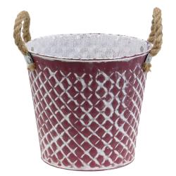 Zinktopf Raute mit Seilgriffen