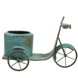 Blumentopf Motorroller Metall Rost