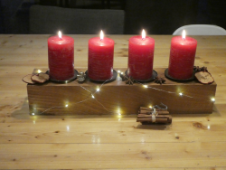Adventsbalken Adventskranz