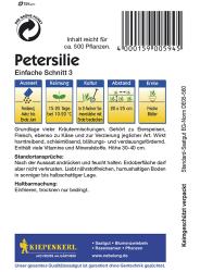 Petersilie Einfache Schnitt 3, Kiepenkerl