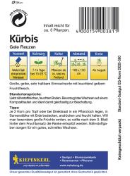Kürbis Gele Reuzen (Gelber Zentner), Kiepenkerl