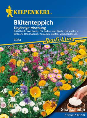 Blumenmischung Blütenteppich, Saatscheibe, Kiepenkerl